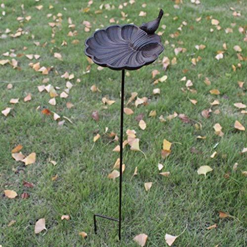 YANJ Alimentador de pájaros Europeo de Hierro Fundido, Comida para pájaros, decoración de jardín, hogar, Hotel, decoración de Villa (Color: Shell)