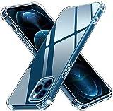 ivoler Funda Compatible con iPhone 12 Pro MAX 6.7 Pulgadas, Carcasa Protectora Antigolpes Transparente con Cojín Esquina Parachoques, Flexible Suave TPU Silicona Caso Delgada Anti-Choques Case Cover