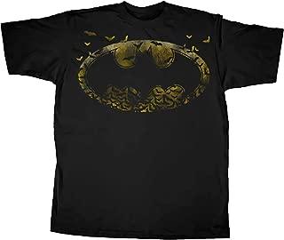 Toy Zany Batman Logo Symbol Bats Black Camiseta