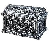 CHXISHOP Scatola rettangolare con finitura anticata, organizer per gioielli, anello decorativo e collana, braccialetto per la casa, retrò, piccola scatola regalo