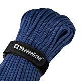 Titan WarriorCord | Royal Blue | 103 Continuous FEET | Exceeds Authentic MIL-C-5040, Type III 550 Paracord Standards. 7 Strand, 5/32' (4mm) Diameter, Military Parachute Cord.