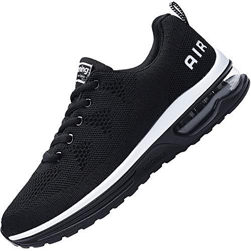Impdoo Women's Air Athletic Running Sneaker Cute Fitness Sport Gym Jogging Tennis Shoes(Black US 9B(M)
