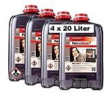 CAGO 4 x Petroleum 20 L Liter Petroheat für Petroleumofen Heizung Heiz-Ofen Camping Heizung geruchsarm 80l (80 Liter)