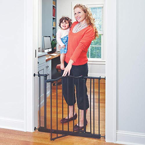 """Toddleroo by North States 38.25"""" wide Portico Arch Baby Gate: Decorative heavy duty metal safety gate with one hand operation. Pressure Mount. Fits 28.25""""- 38.25"""" wide (28.5"""" tall, Bronze)"""
