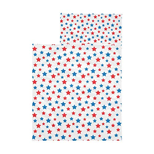 Toddler Nap Mat Usa Celebration Red And Blue Stars Nap Cot Mat Soft Microfiber Lightweight Nap Toddler Mat Perfect For Preschool, Daycare And Sleepovers