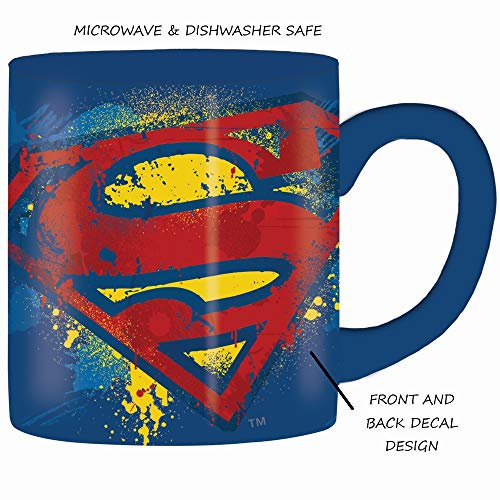 Product Image 2: Silver Buffalo DC Comics Superman Bold Logo, 14-ounces Mug, Multicolor