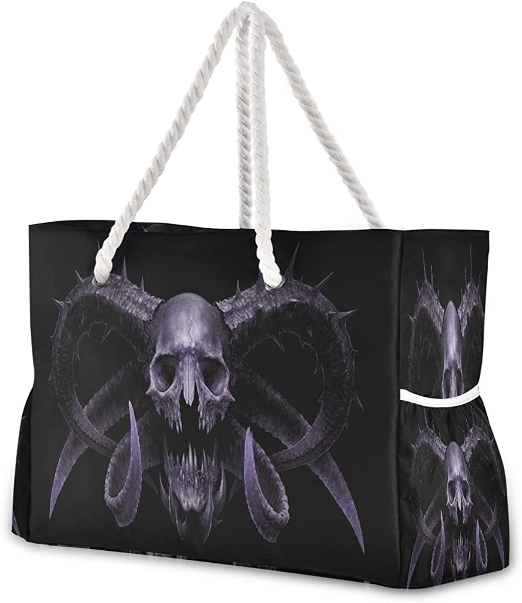 Women Large Beach Surprise price Bag Skull Time sale Octopus Travel Tote for Bags Gym Spo