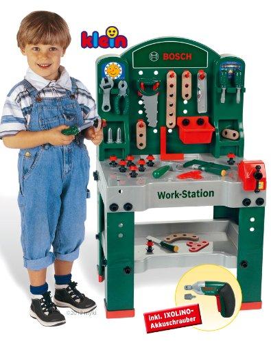 Theo Klein 8583 BOSCH Work Station avec Visseuse dévisseuse Bosch