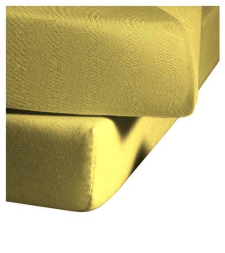 Sábanas bajeras amarillas de 120x200 cm