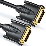 deleyCON 10m Cable DVI de Doble Enlace (24+1) HDTV resoluciones de hasta 2560x1080 Full HD 1080p Compatible con 3D DVI-D contactos Dorados - Negro