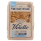 Voiello Pasta Penne Rigate Integrale, Pasta Corta di Semola Grano Aureo 100%, 500g