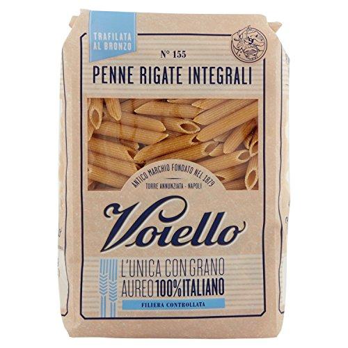 Voiello Pasta Penne Rigate Integrale, Pasta Corta di Semola Grano Aureo 100% - 500 gr