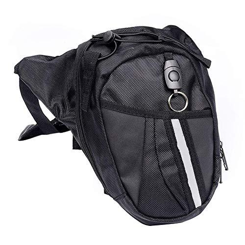 Bolsa de la pierna Fanny Pack Cintura Negro con Cremallera Navidad para Hombres Motocicleta Mujeres Viajes al aire libre Multi-bolsillo Bicicletas suministros