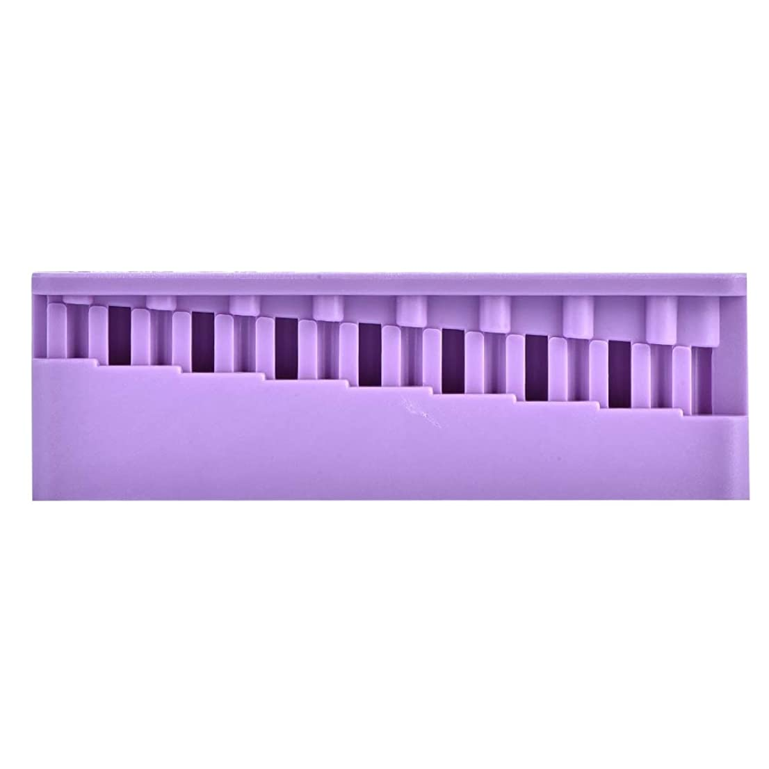 挨拶する安定したハングNitrip 歯科測定ブロック 歯根テストボード 歯科用メジャーブロック 歯科用根管測定 歯根測定ツール 高温消毒 2色(紫色)