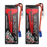 GOLDBAT 11.1V LiPo 5200mAh 80C 3S Lipo RC Battery Hardcase with EC5 Connector for RC Car Evader Bx RC Truck Boat Helicopter Helicopter RC Truggy RC Buggy Car Racing Hobby (2PACKS)