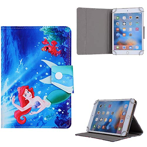Kids Disney Best Cartoon Character Tablet Cover For ~ Apple iPad 8th Generation 2020 10.2 in Case (Ariel Mermaid)