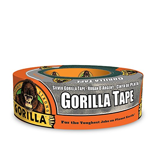 Gorilla Silver Duct Tape, 1.88' x 35 yd, Silver, (Pack of 1)