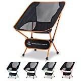 Tinya Ultralight Backpacking Camping Chair: Kids Adults Backpacker Heavy Duty 300lb Capacity Packable Collapsible Portable Lightweight Compact Folding Beach Outdoor Picnic Travel Hiking(Orange)