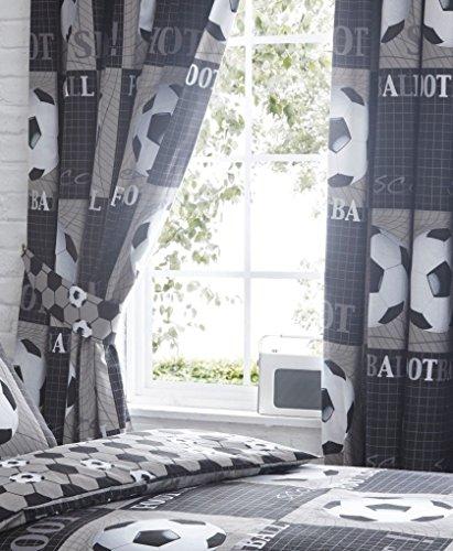 Dispara cortinas de fútbol 168 x 183 x 0,1 cm (66 'x 72' caída) poliéster, gris
