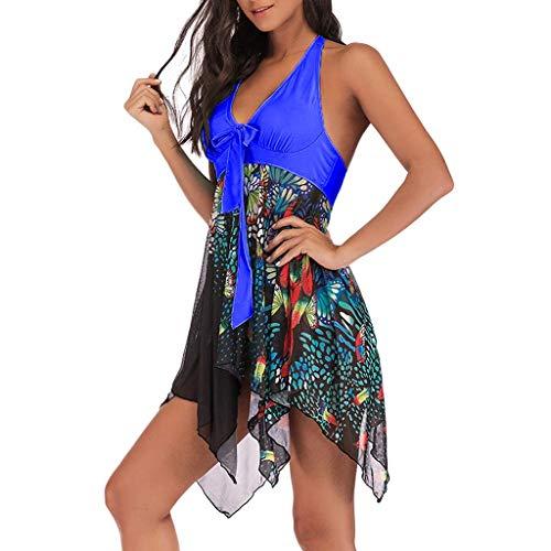 Casual slingebikini, modieuze dames halternek bloemen bedrukte sets, bikini 2-delig badpak zwemkleding UK plus size