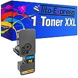 Tito-Express PlatinumSeries 1 Toner XXL compatibile con Kyocera TK-5230 ECOSYS M5521CDW M5521CDN P5021CDN P5021CDW   Cyan 2.200 pagine