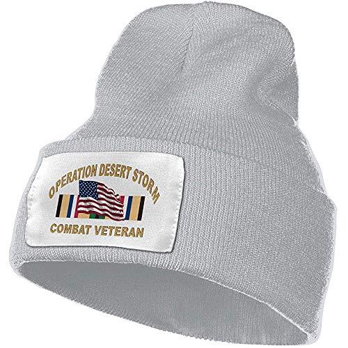 Maselia Operation Desert Storm Combat Veteran Unisex Warm Woollen HatandStylish Winter Hats Negro