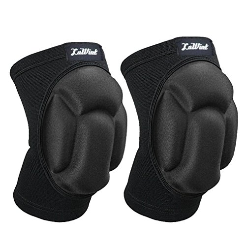 Luwint Junior Youth Unisex Protective Basketball Volleyball Knee Pads - Elastic Anti-Slip Compression Knee Sleeves Support for Gardening Weightlifting Fitness Sports for Men Women, 1 Pair