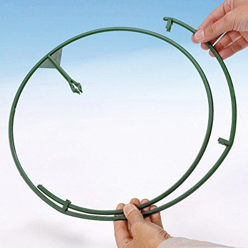 TRI Pflanzen-Ringe, Pflanzenhalter Staudenhalter Kletterpflanzen, Blumen Obst, Blumenhalter, Kunststoff, Ø 30-45 cm, 8 Stück