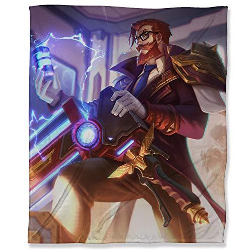 ARYAGO League Legends - Manta de viaje (150 x 200 cm), diseño de profesor de batalla