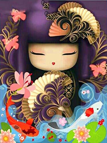 Puzzle 1000 piezas Dibujos animados kimono girl series 9 art gifts puzzle 1000 piezas Rompecabezas de juguete de descompresión intelectual educativo divertido juego familiar p50x75cm(20x30inch)