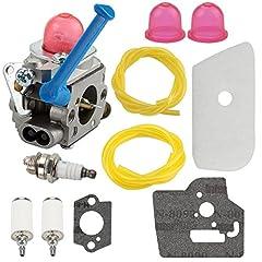 Carburetor replace part # C1Q-W40A C1Q-W38 545081848 545130001 545006062 545006060 545006061 545030401 545081850 Fit for 124L 125E 125C 125L 125LD 125R 125RJ 128C 128CD 128LD 128L 128LDX 128R 128RJ 128DJX String Trimmer Fit for Craftsman 358792030 35...
