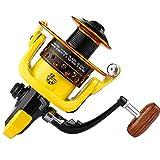 LERDBT Angelrollen Salzwasser-Süßwasserfischen-Gelb der Spinnrolle (Color : Yellow, Size : 4000)