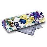 FEFI Hardcase Brillenetui im schicken Blumen-Design - mit Magnetverschluß -
