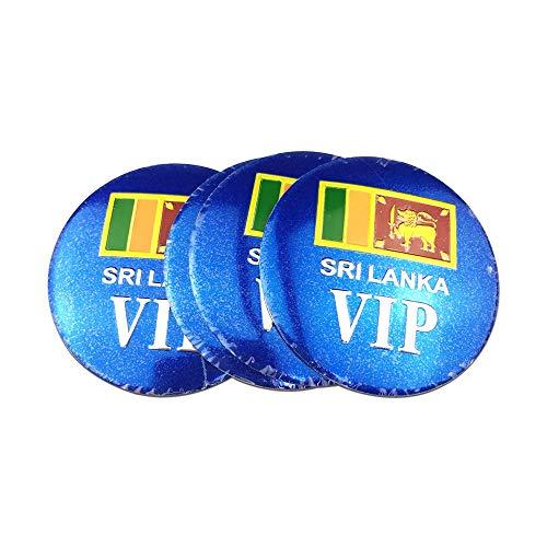 Für Sri Lanka Flagge Emblem Abzeichen Auto Rad Nabe Caps Aufkleber für Jeep Honda Civic Peugeot Volkswagen BMW...