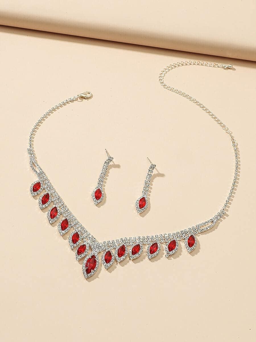 ZHAWE Raleigh Mall Women's Jewelry Set Series Al sold out. Decor S 3pcs Rhinestone