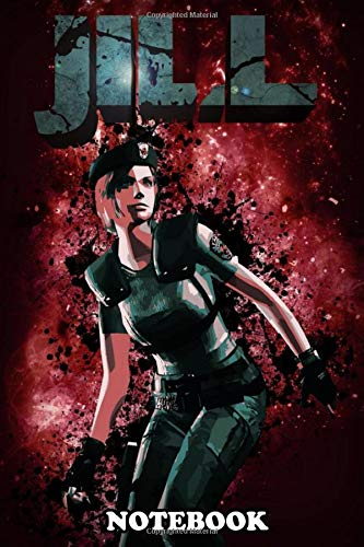 Notebook: Tribute To Jill Valentine Of The Resident Evil Games , Journal for Writing, College Ruled Size 6' x 9', 110 Pages