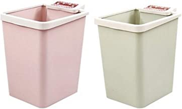 Recycling Bin Plastic Trash Can Square Garbage Can Trash Bin Wastebasket Kitchen Countertop Trash Recycling Containers for...