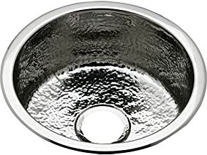 18 Gauge Stainless Steel 16.375' X 16.375' X 7' Single Bowl Dual Mount Bar Sink