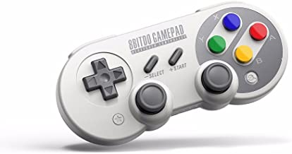 RunSnail Mando para Switch PC, 8Bitdo SF30 Pro Inalámbrico Gamepad Controller para PC, Windows, Android, Raspberry Pi, macOS, Steam