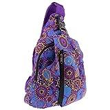 KUNST UND MAGIE Sling Bag Hippie Goa Bodybag Schultertasche Mandala Rucksack L, Farbe:Lila