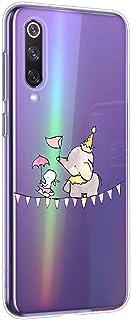 Oihxse beschermhoes voor Xiaomi Mi 8 (schattig, transparant, olifant, haas, motief serie), TPU-beschermhoes, zacht, ultrad...