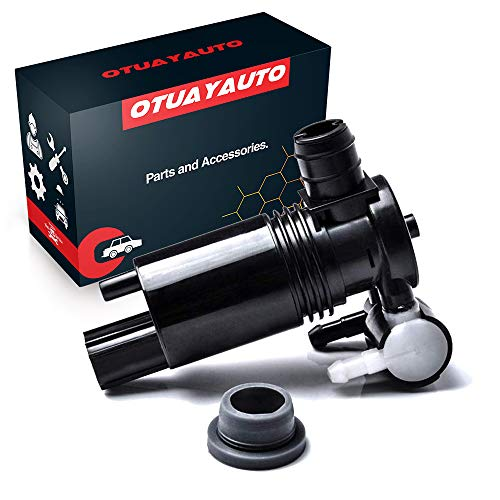 OTUAYAUTO 8A61-17K624-AA Windshield Washer Pump Replacement for Ford Edge,...
