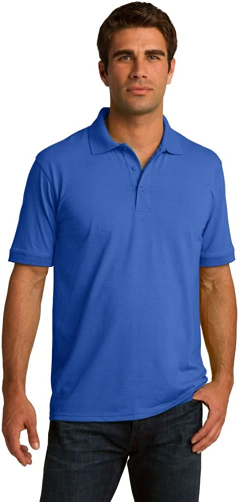 Port & Comapany Men's Big and Tall Knit Polo Jersey