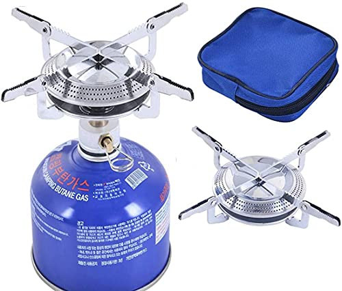 Mini Gas Stove, Camping Cooker Gas Portable with Waist Bag, Upright Gas...