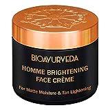 BIOAYURVEDA Homme Brightening Cream for Men, Reduces Dark Spots, Helps in Enhancing Natural Glow 60gm