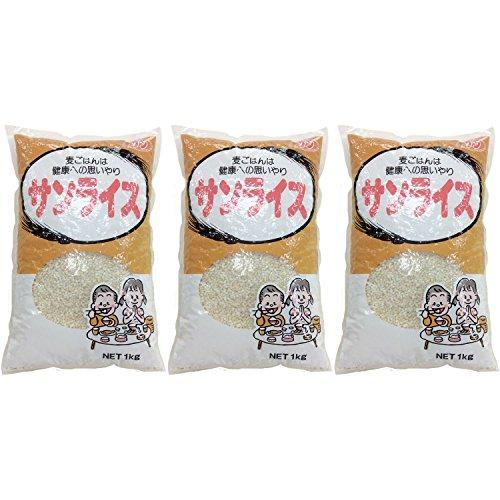 石橋工業 サンライス 麦ごはんは健康への思いやり 袋1kg [6013]