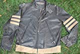 Cuircon Motorcycle Riders Leather Safety Jackets (XL, Antique Brown)