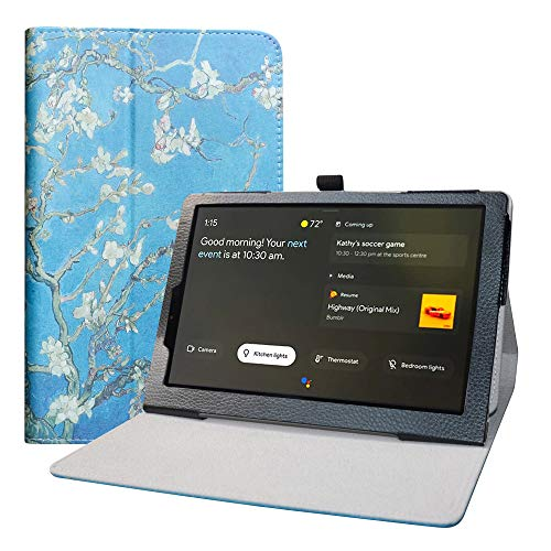 LFDZ Funda Lenovo Yoga Smart,Soporte Cuero con Slim PU Funda Caso Case para 10.1' Lenovo Yoga Smart Tab YT-X705F Tablet,Almond Blossom