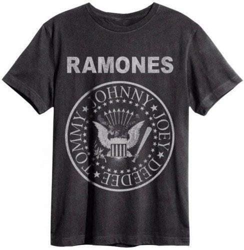 Amplifiés Boys-t-Shirt de Sport pour Homme Rock Band Ramones Logo