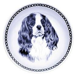 デンマーク製 ドッグ・プレート (犬の絵皿) 直輸入! Cavalier King Charles Spaniel / キャバリア・キング・チャールズ・スパニエル[Lekven]